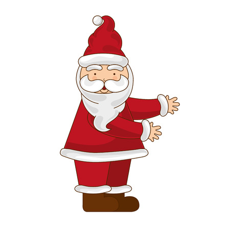 merry chrismas: santa merry chrismas icon illustration design vector Illustration