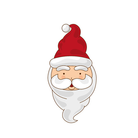 chrismas: santa merry chrismas icon illustration design vector Illustration