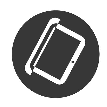 pc icon: pc laptop gray object icon vector illustration Illustration