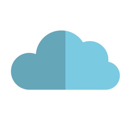 host: cloud data icon computing host internet vector