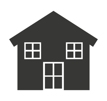 real estate house: house silhouette real estate icon vector isolated Illustration