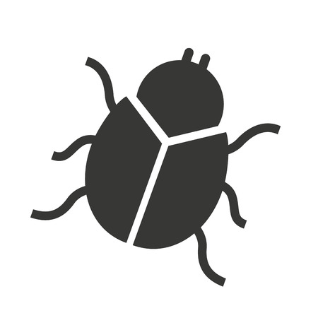 spyware: beetle silhouette black icon vector isolated graphic