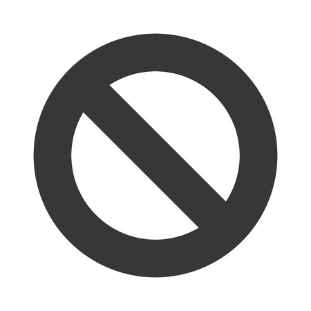 denied: denied symbol circle icon vector isolated graphic