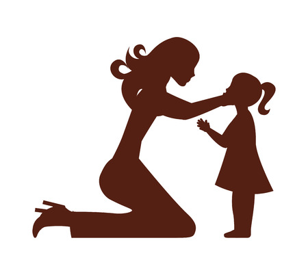 mother daughter woman girl vector isolated graphic