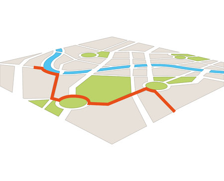 road position: map paper guide icon vector isolated graphic