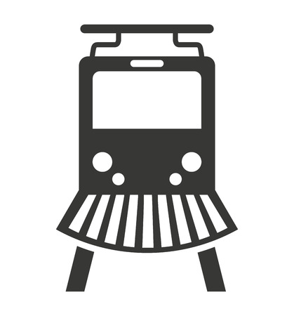 rail: train rail silhouette icon vector isolated graphic Illustration