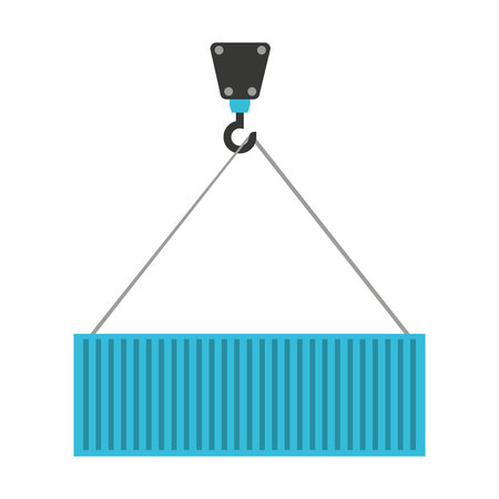 lifting hook: crane hook lifting icon vector isolated graphic Illustration