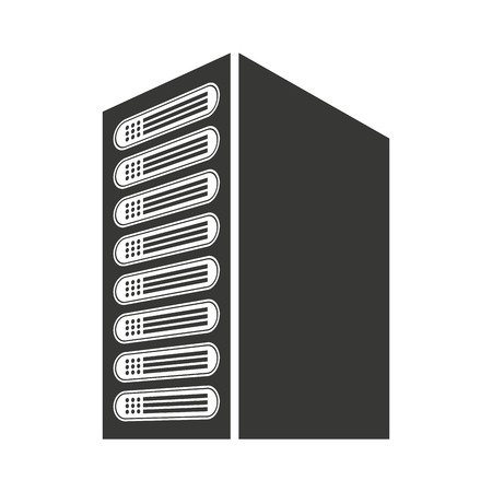 computer cpu: computer cpu server icon vector isolated graphic