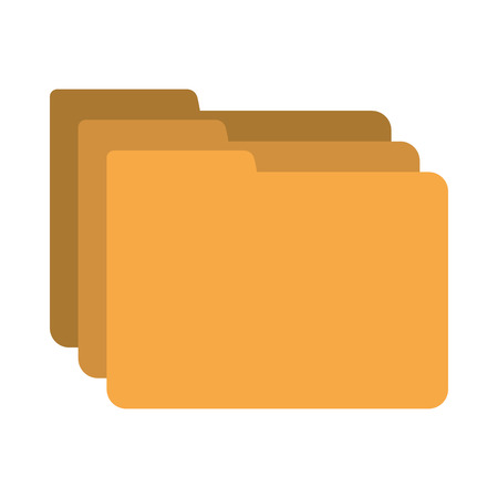 file types: folder data document icon vector isolated graphic