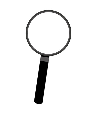 detect: magnifying glass search icon vector isolated graphic Illustration