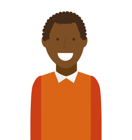 black youth: man male avatar young icon vector isolated graphic