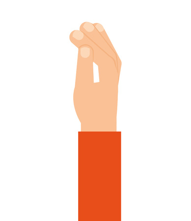 finger index: hand human finger index icon vector isolated graphic Illustration