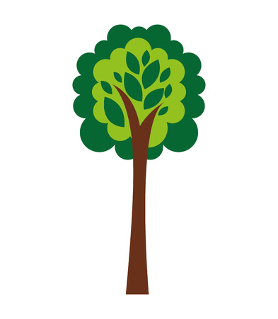 biodiesel plant: tree plant eco icon vector isolated graphic