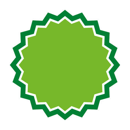 sticker vector: green seal stamp sticker vector isolated graphic
