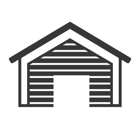warehouse building: building warehouse storage icon vector isolated graphic