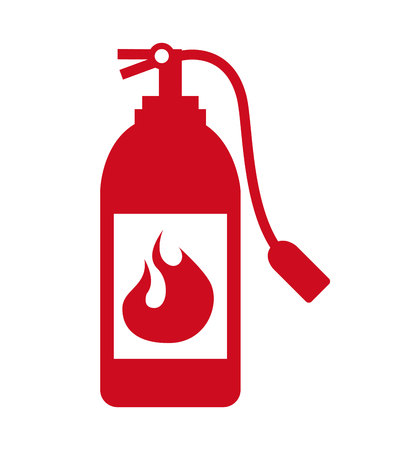 extinguisher signal silhouette icon graphic isolated vector Illustration