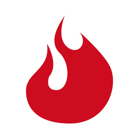 fire flame signal icon graphic isolated vector