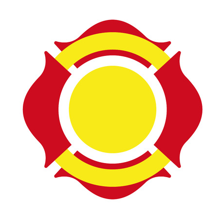 fire icon: shield firefighter emergency icon graphic isolated vector Illustration