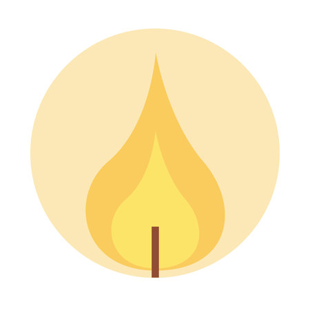 lit: flame lit candle icon graphic isolated vector