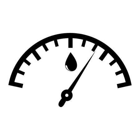 quantity: Fuel quantity indicator black and white colors isolated flat icon