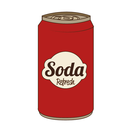 soda can: Soda can isolated flat icon, vector illustration graphic.