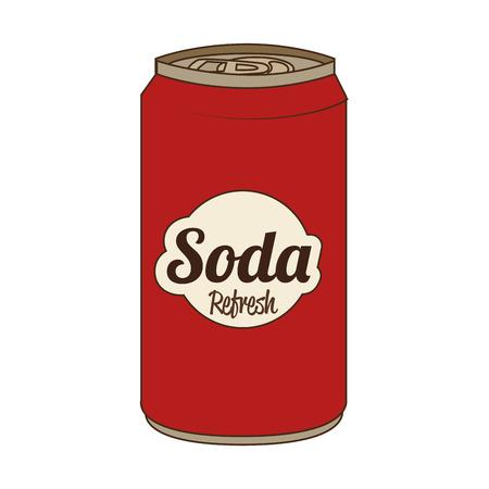 lata de refresco: Soda puede aislado icono plana, ejemplo gr�fico del vector.