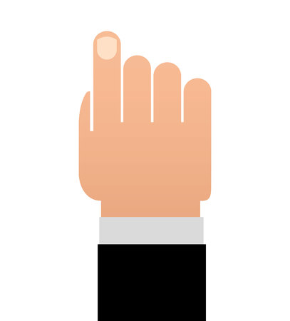 finger index: hand human finger index icon vector lated graphic