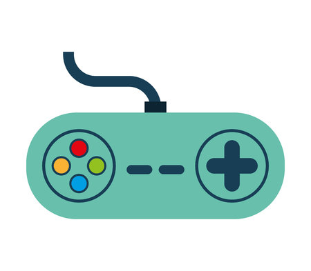 joy pad: control game wire icon  graphic isolated vector