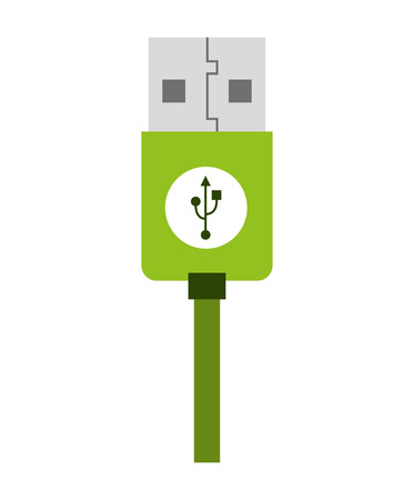 computer socket: usb connection plug icon  graphic isolated vector