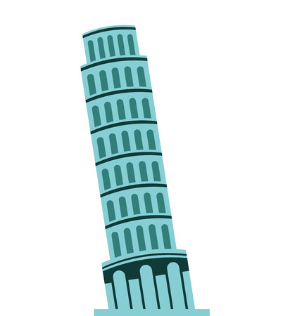 tower of pisa: tower pisa itali icon graphic isolated vector