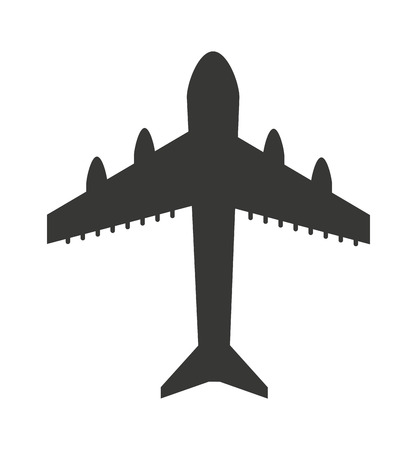 plane airplane flying icon vector isolated graphic Illustration