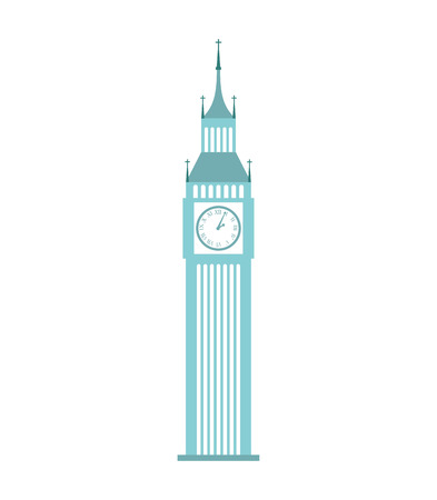 city of westminster: london big ben icon graphic isolated vector