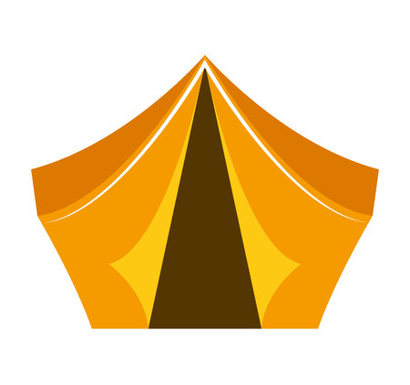 camping equipment: tent camping equipment icon graphic isolated vector Illustration