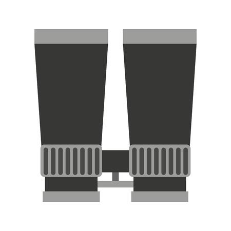 binoculars view: binoculars view silhouette icon graphic isolated vector
