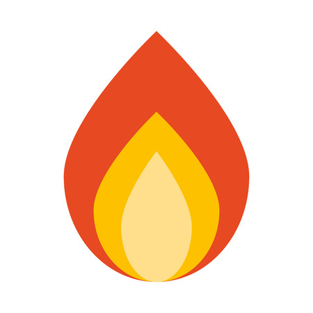 campfire wood flame icon graphic isolated vector Illustration