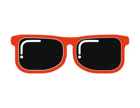 sun glasses: sun glasses view icon graphic isolated vector Illustration