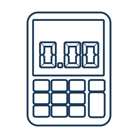 math icon: calculator math buttons blue icon, isolated flat design Illustration