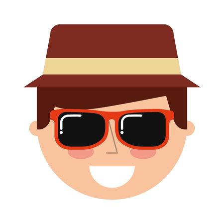 traveler: tourist man traveler icon graphic isolated vector Illustration