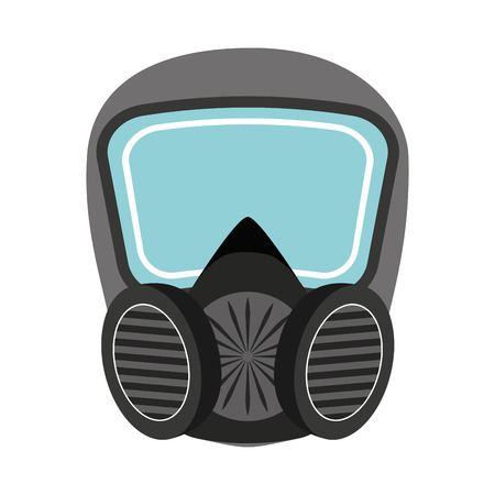 mask protection: mask protection work icon graphic isolated vector Illustration