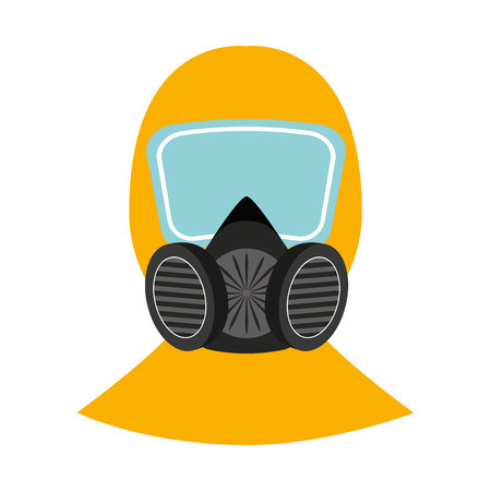 mask protection work icon graphic isolated vector Illustration