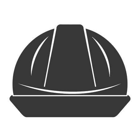 hard cap: helmet worker security icon graphic isolated vector