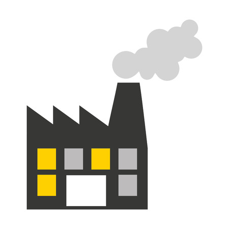 manufactory: plant factory building icon vector isolated graphic Illustration