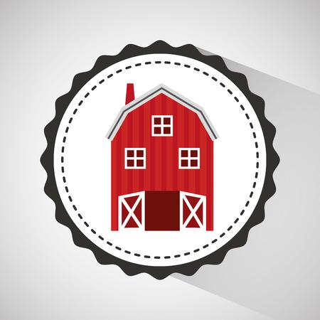 p buildings: farm countryside house home farmhouse isolated, vector illustration