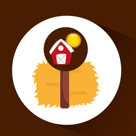 p buildings: farrm countryside thatch isolated, vector illustration eps10 Illustration