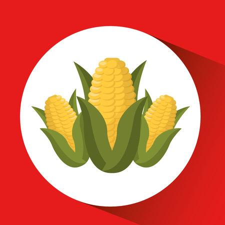farm countryside corn food isolated, vector illustration Illustration
