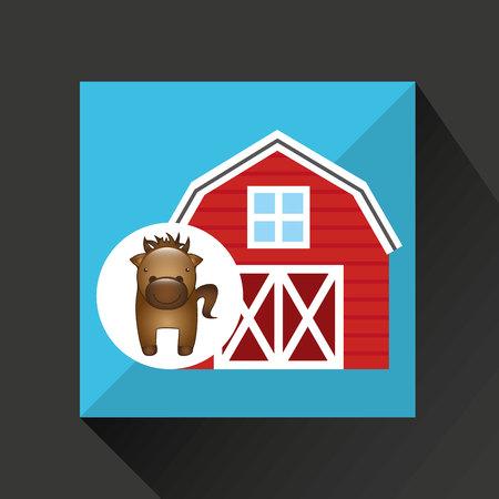 p buildings: farm countryside animal isolated,vector illustration