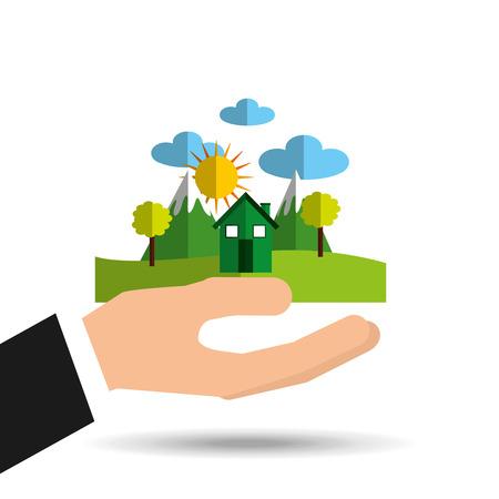 enviromental: ecology enviromental eco nature isolated, vector illustration Illustration