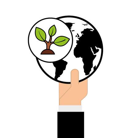 la ecología ambiental eco de la naturaleza aislado, ilustración vectorial Ilustración de vector