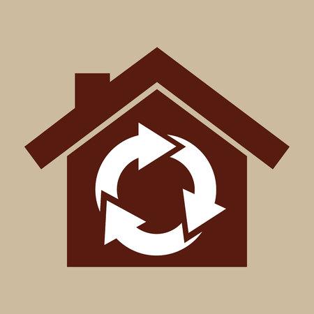 care symbol: ecology enviromental eco nature isolated, vector illustration Illustration
