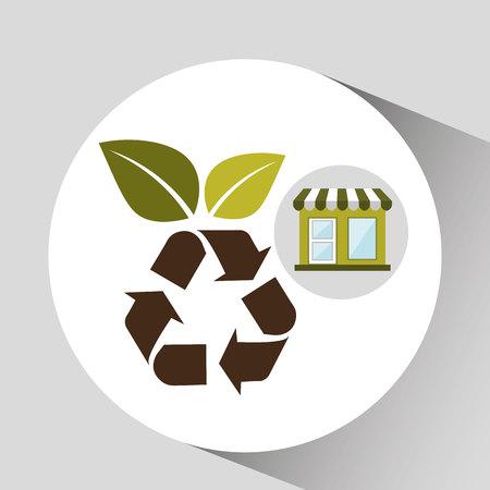 ecology enviromental eco nature isolated, vector illustration Illustration